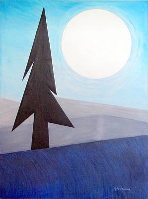Art Print featuring the painting Moon Rings by J R Seymour