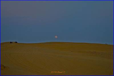 Photograph - Moon Rise And Sand Dunes by Sonali Gangane