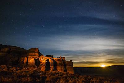 Photograph - Moon Rise At Pillars Of Rome, Oregon, Usa by Vishwanath Bhat