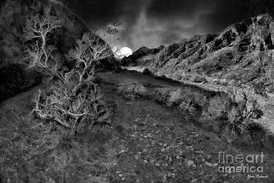 Photograph - Moon Rise Echo Canyon Death Valley by Blake Richards