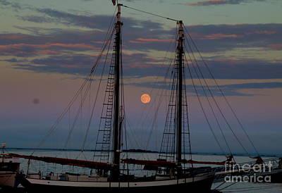 Photograph - Moon Rise by Lennie Malvone