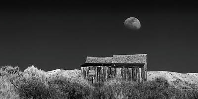 Photograph - Moon Rise Over Bodie by Jay Beckman