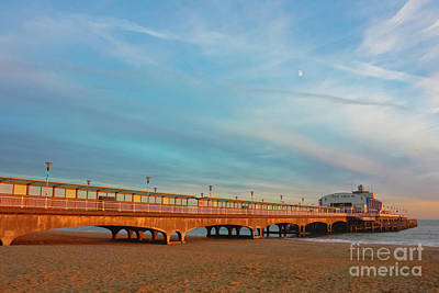 Photograph - Moon Rise Over Bournemouth Pier by Terri Waters
