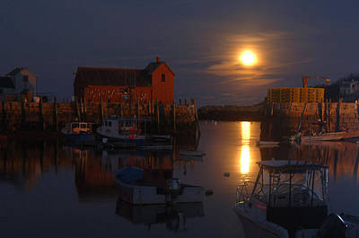 Moon Rise Over Motif Number 1 Art Print by Ron Brown Photography