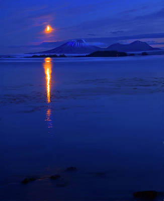 Moon Rise Over Mt. Edgecumbe Original