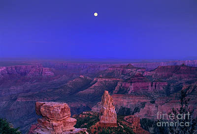 Photograph - Moon Rise Over Point Imperial North Rim Grand Canyon National Park Arizona by Dave Welling
