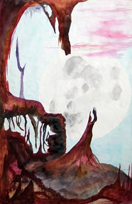 Painting - Moon Rise by Steve Karol