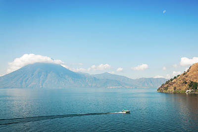 Photograph - Moon Rising At Lake Atitlan In Guatemala by Daniela Constantinescu