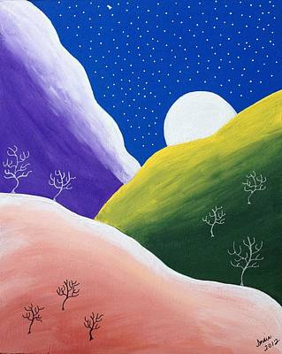 Painting - Moon Rising by Heidi Moss