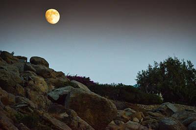 Photograph - Moon Rising In Mykonos by Carmen Tosca