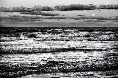 Art Print featuring the photograph Moon Rising  by Louis Ferreira