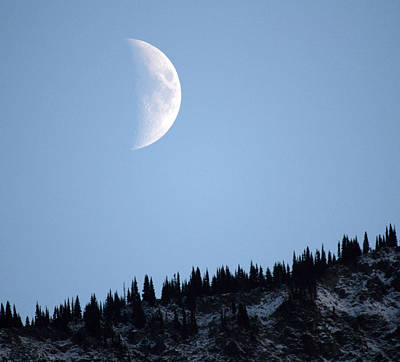 Photograph - Moon Rising Over Mount Currie  by Pierre Leclerc Photography