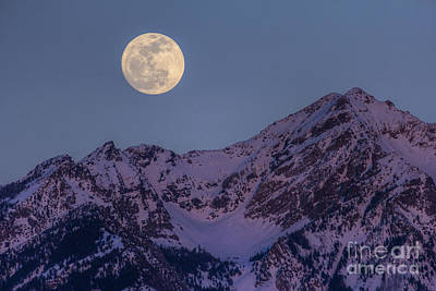 Photograph - Moon Rising Over Twin Peaks by Spencer Baugh