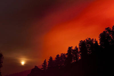 Photograph - Moon Rising With A Wild Fire by James BO Insogna