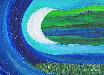 Painting - Moon River Castle Detail By Jrr by First Star Art
