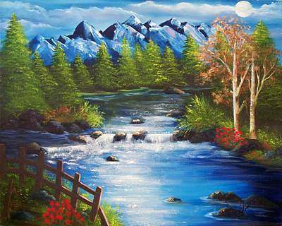 Painting - Moon River by Joni M McPherson