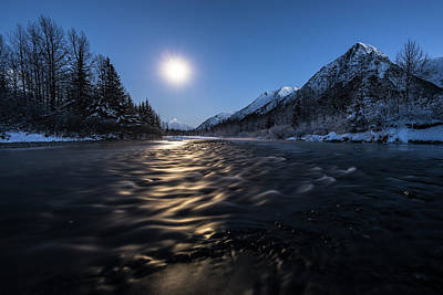 Photograph - Moon River by Ted Raynor