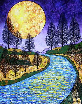 Moon River Art Print by Tracy Levesque