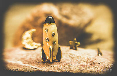 Jewellery Photograph - Moon Rocket At Space Station On The Dark Side by Jorgo Photography - Wall Art Gallery