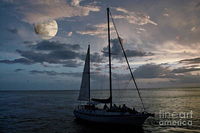 Photograph - Moon Sail by Digartz - Thom Williams