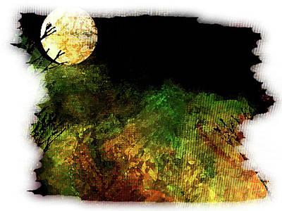 Digital Art - Moon Scape by Marie Jamieson