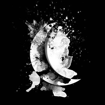 Wall Art - Digital Art - Moon Shadow by George Michael