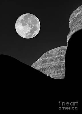 Man In The Moon Photograph - Moon Shadow  by Mike Nellums