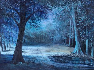Moon Shadows Original by Rita Smith