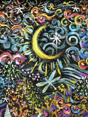 Painting - Moon Shine by Jean Batzell Fitzgerald
