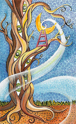 Root Of Mixed Media - Moon Shine by Rachel Cotton