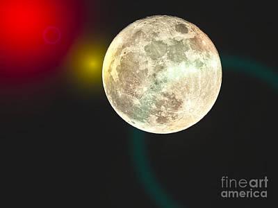 Photograph - Moon Sky by Ella Kaye Dickey
