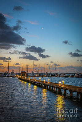 Photograph - Moon Sliver At Dawn by Tom Claud