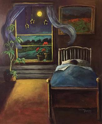 Painting - Moon Stars And Dreams by Randy Burns