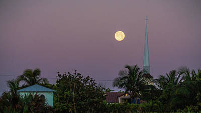 Photograph - Moon Steeple Delray Beach Florida by Lawrence S Richardson Jr