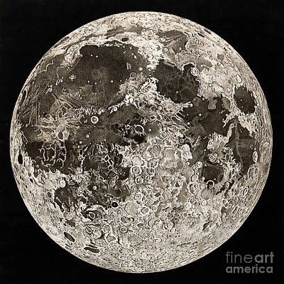 Moon Surface By John Russell Art Print by Wellcome Images