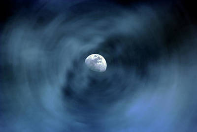 Digital Art - Moon Swirl by David Stasiak