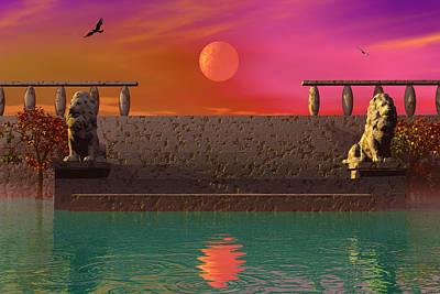 Photograph - Moon Temple by Mark Blauhoefer