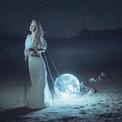 Photograph - Moon Thief by Anya Anti