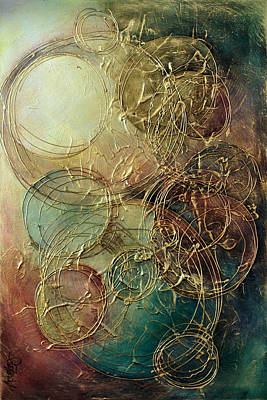 Moon Thread Art Print by Michael Lang