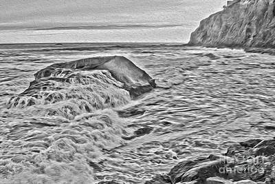 Photograph - Moon Tides by Third Eye Perspectives Photographic Fine Art