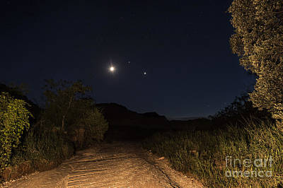 Photograph - Moon Venus Jupiter by Melany Sarafis
