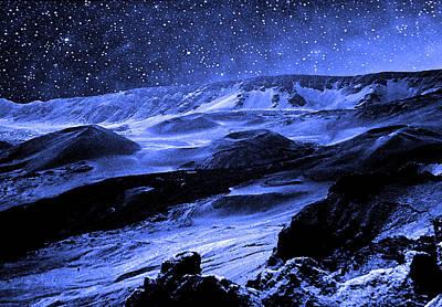 Astronauts Mixed Media - Moon Walk by Kevin Smith