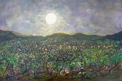 Luminous Body Painting - Moon Watch by Sara Credito
