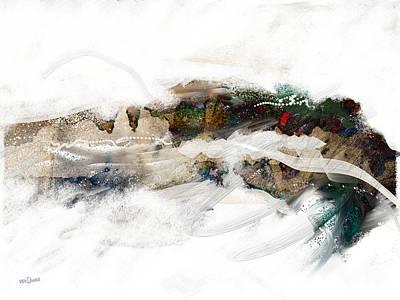 Abstract Beach Landscape Digital Art - Moon Wave by James VerDoorn