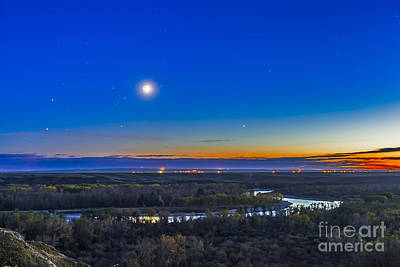 Blackfoot River Photograph - Moon With Antares, Mars And Saturn by Alan Dyer
