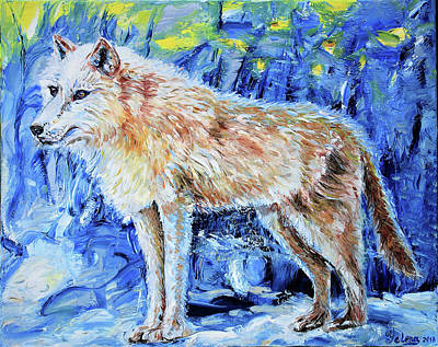 Painting - Moon Wolf  by Yelena Rubin