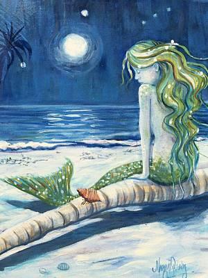Moonbathing Art Print by Maggii Sarfaty