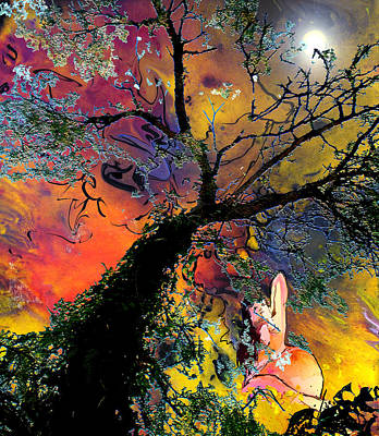 Painting - Moonbathing by Miki De Goodaboom