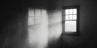 Shadows And Light Photograph - Moonbeams On The Attic Window by Scott Norris