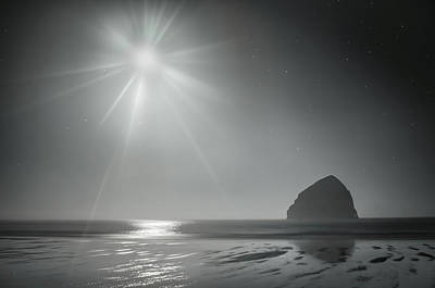 Photograph - Moonbeams Over Pacific Beach by Don Schwartz
